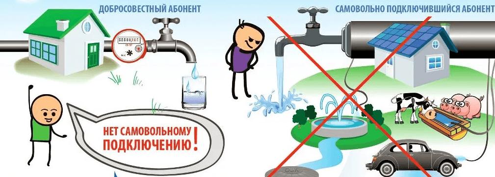 Законность подключения к водопроводу