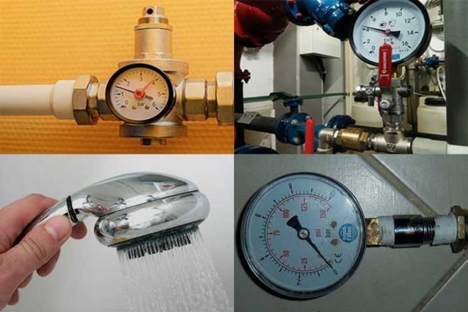 Манометр для проверки давления воды