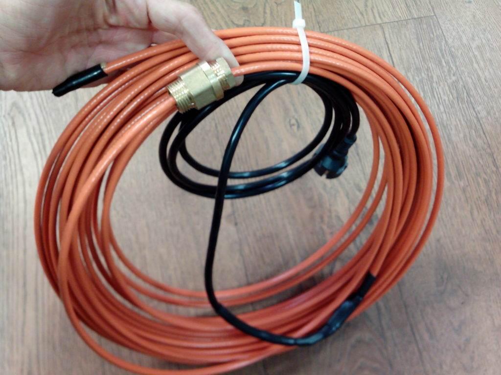 Монтаж греющего, саморегулирующегося кабеля для обогрева труб