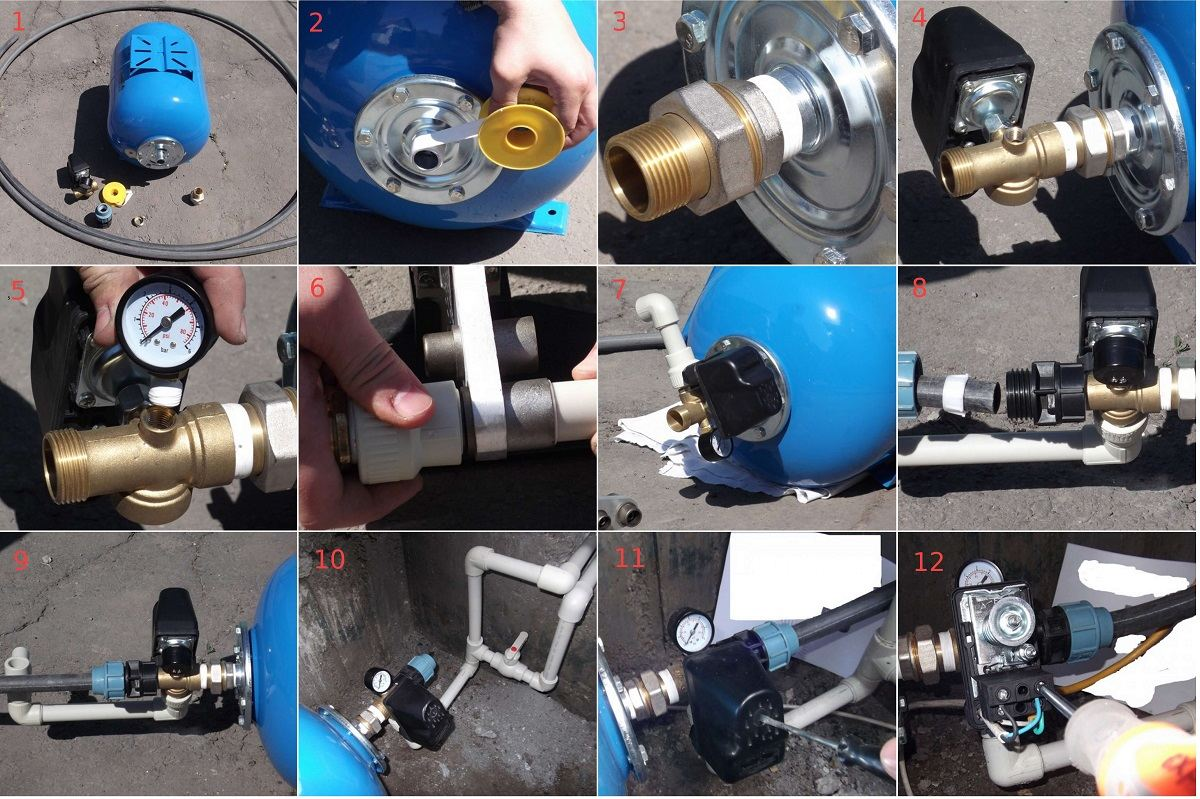 Реле для регулировки давления воды в водопроводе