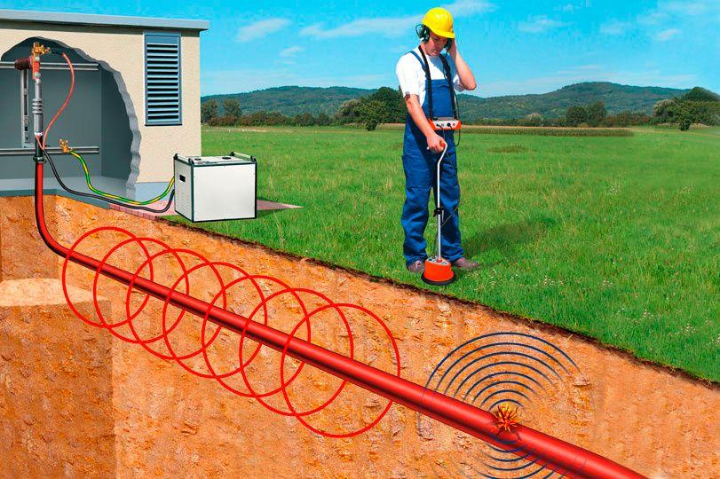 Поиск водопроводной трубы в земле своими руками