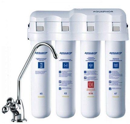 Фильтры для очистки воды под мойку: проточные, обратный осмос - лучшие варианты