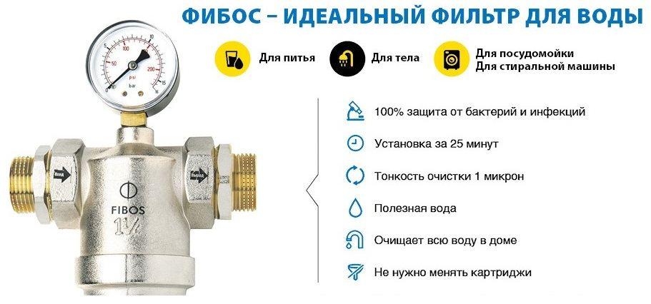 Фильтры Фибос для очистки воды: характеристики, отзывы специалистов и покупателей