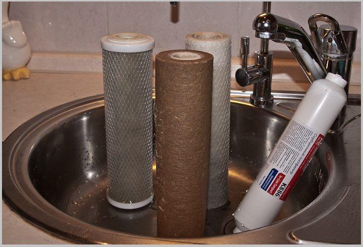 использованные фильтры для воды