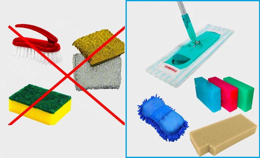 Приборы для мытья натяжного потолка.