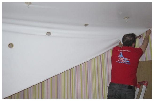 Демонтаж натяжных потолков своими руками